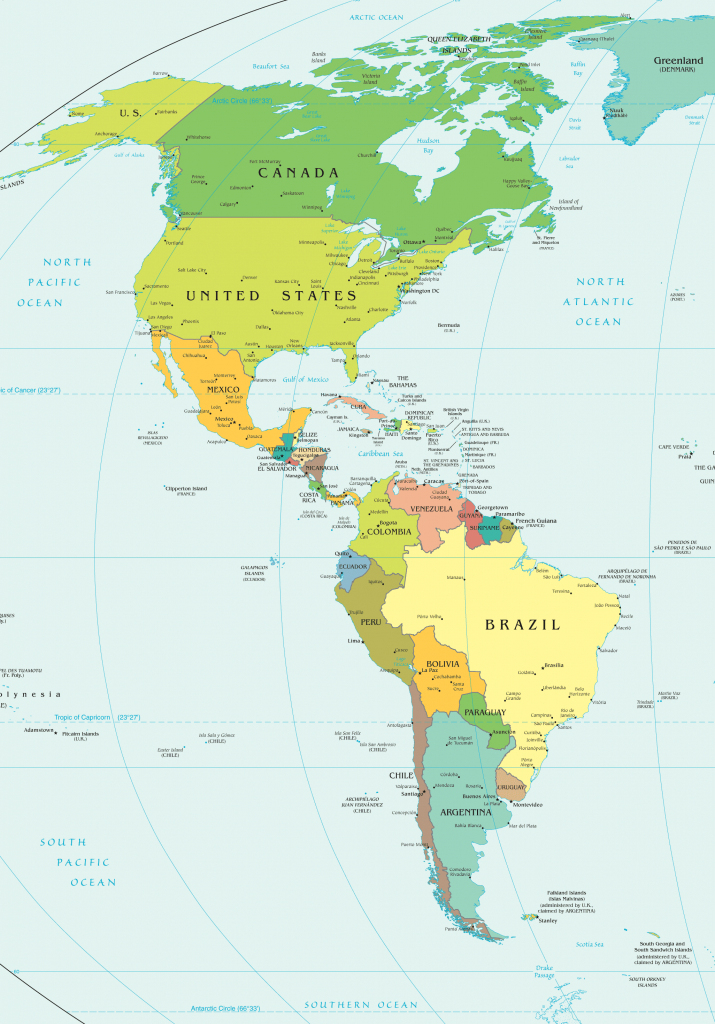 America Political Map Printable Maps The Western Hemisphere 10 Of inside Western Hemisphere Map Printable