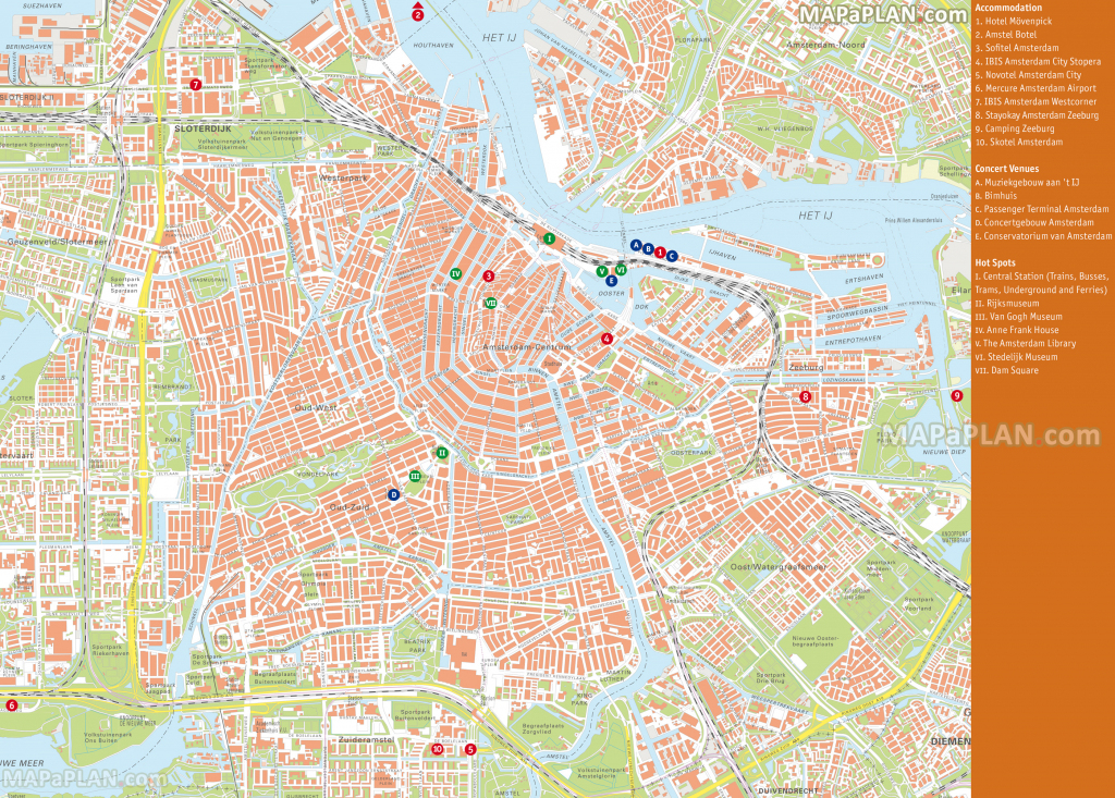 Amsterdam Maps - Top Tourist Attractions - Free, Printable City throughout Amsterdam Street Map Printable