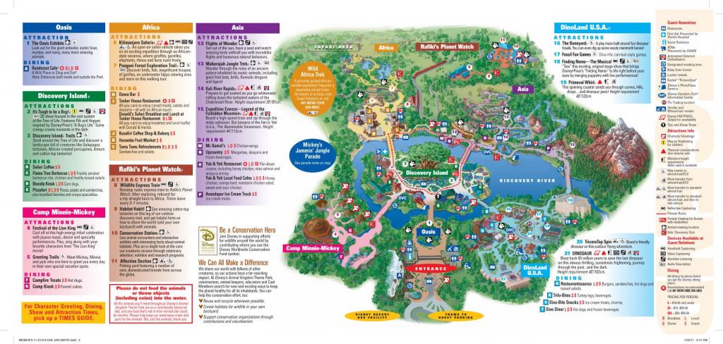 Animal Kingdom Map | Disney Ideas | Animal Kingdom Map, Disney World inside Printable Maps Of Disney World Theme Parks