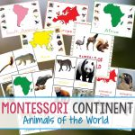 Animals And Continents Printables   Natural Beach Living Pertaining To Montessori World Map Free Printable