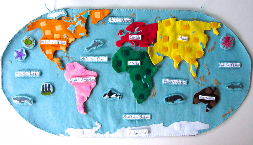 Animals Of The Ocean For The Montessori Wall Map & Quietbook With pertaining to World Ocean Map Printable