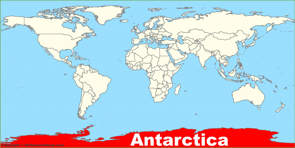 Antarctica Maps   Maps Of Antarctica - Ontheworldmap regarding Printable Map Of Antarctica