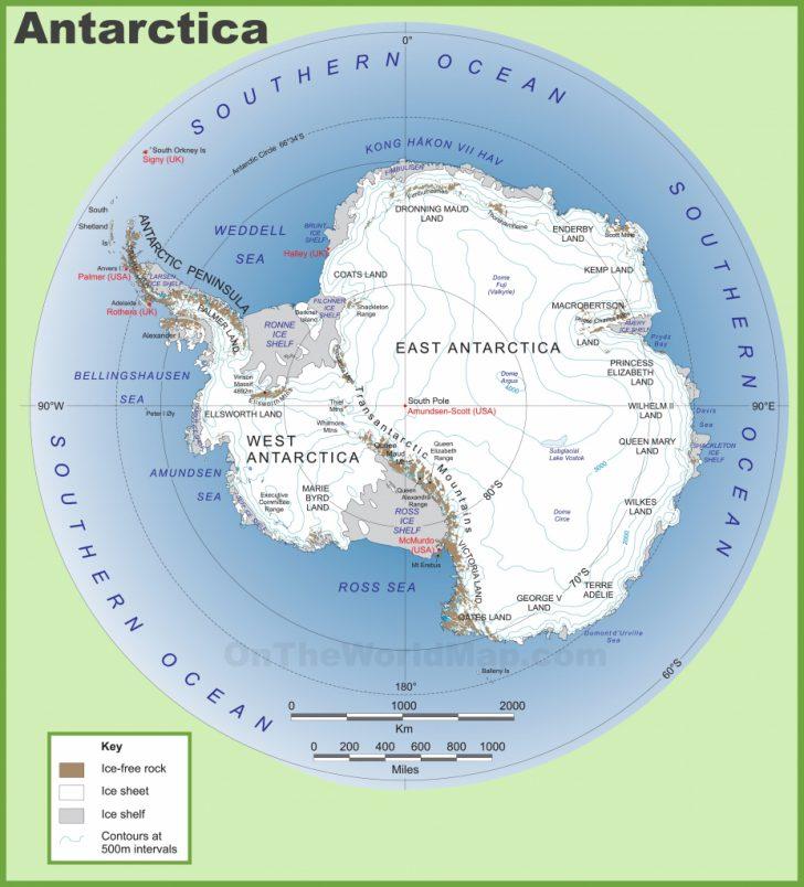 Printable Map Of Antarctica