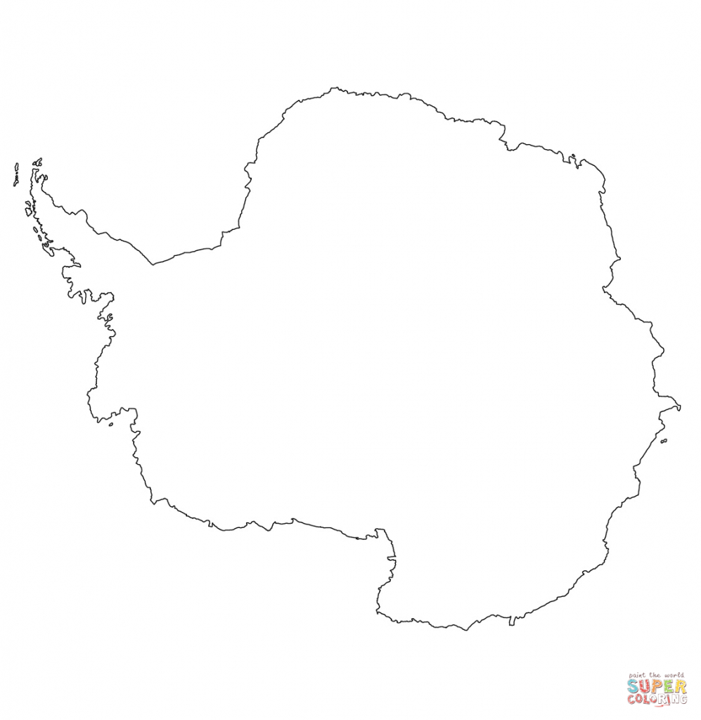 Antarctica Outline Map Coloring Page | Free Printable Coloring Pages inside Antarctica Outline Map Printable