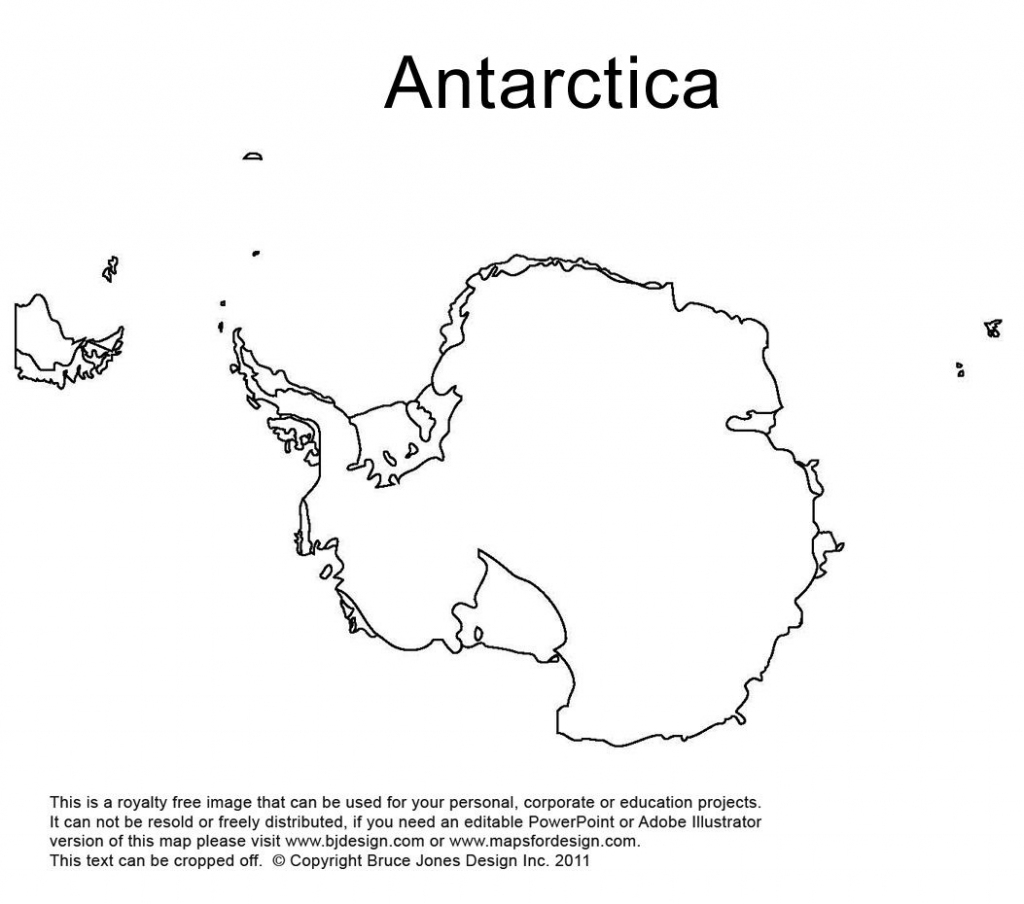 Antarctica, South Pole Outline Printable Map, Royalty Free, World within Printable Map Of Antarctica