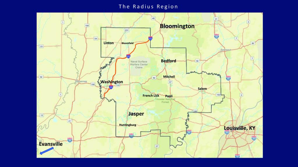 Area Maps – Radius Indiana inside Printable Radius Map