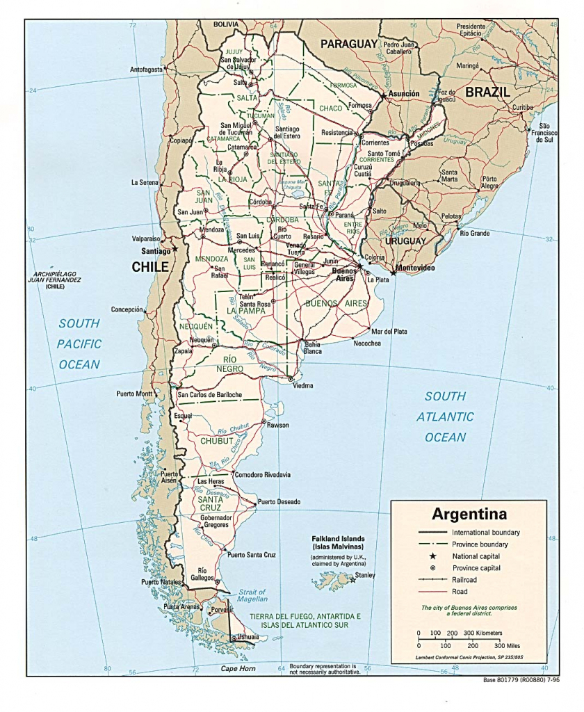 Argentina Maps - Perry-Castañeda Map Collection - Ut Library Online inside Printable Map Of Argentina