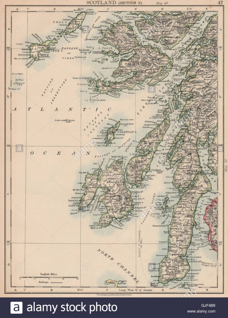 Argyll & Bute. Inner Hebrides. Islay Jura Mull Kintyre Coll Tiree with regard to Printable Map Of Mull