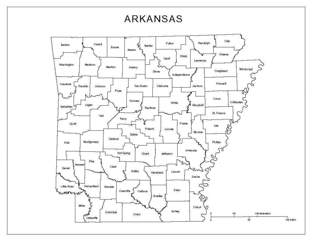 Arkansas Labeled Map inside Printable Map Of Arkansas