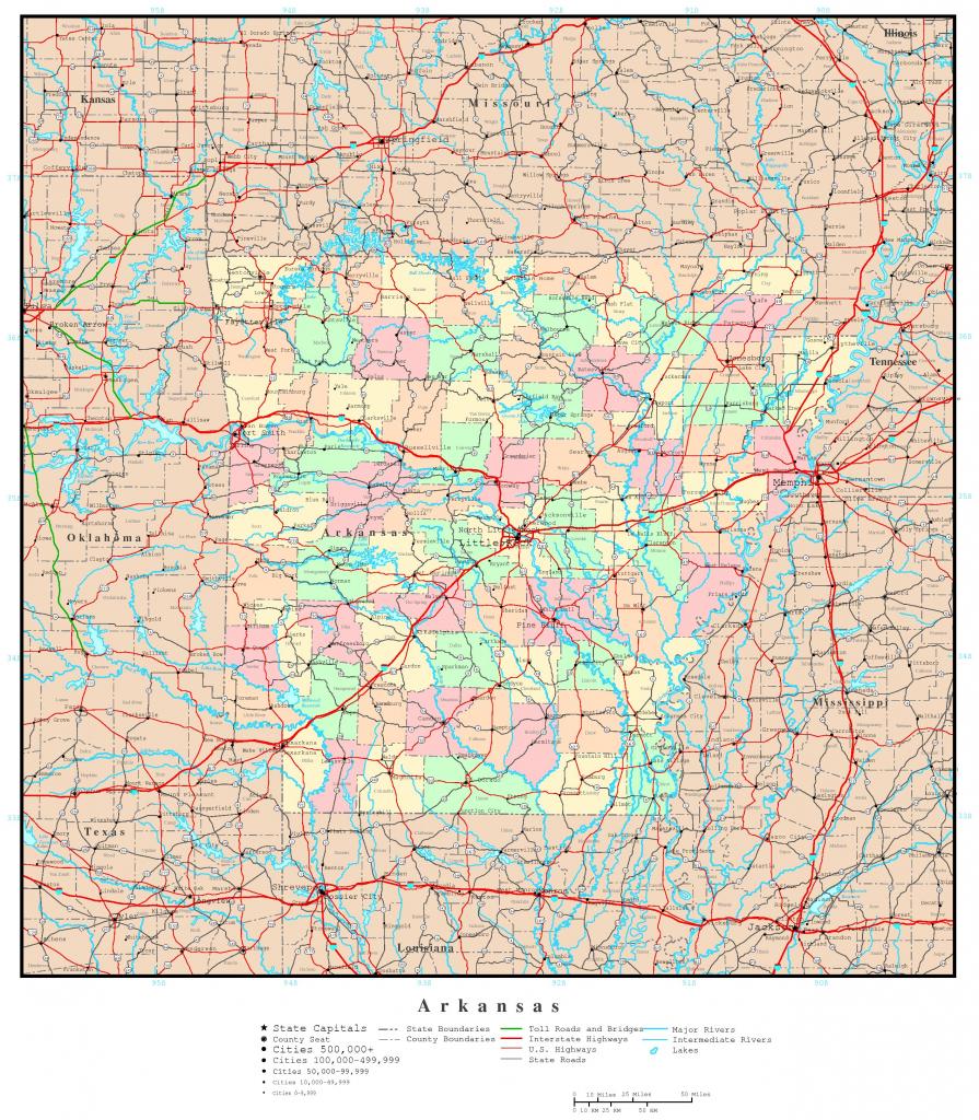 Arkansas Political Map within Printable Map Of Arkansas
