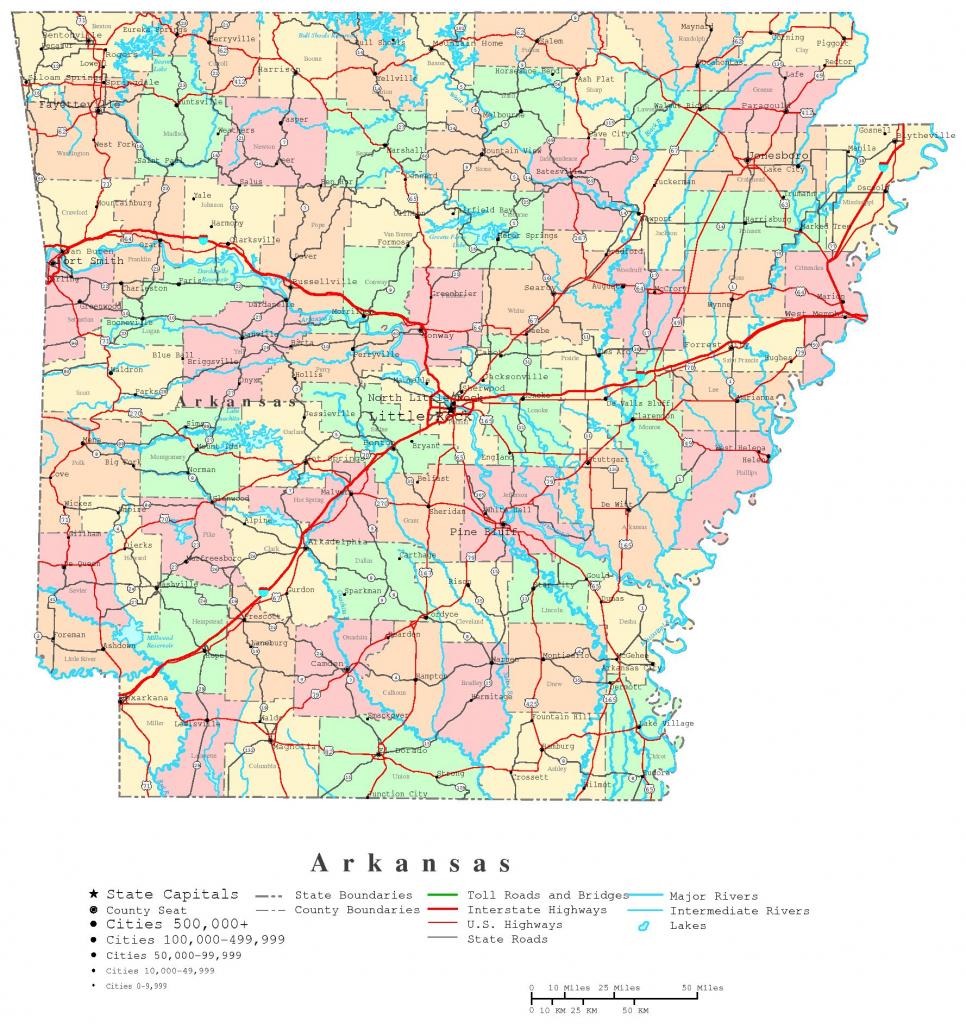 Arkansas Printable Map with Printable Map Of Arkansas