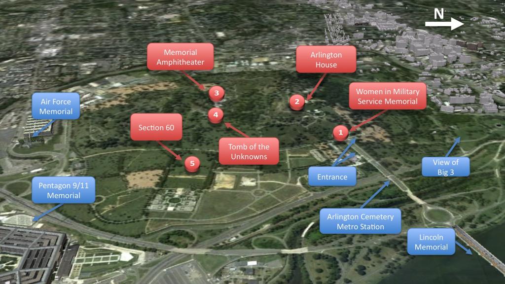 Arlington National Cemetary Map - Aishouzuo pertaining to Arlington Cemetery Printable Map