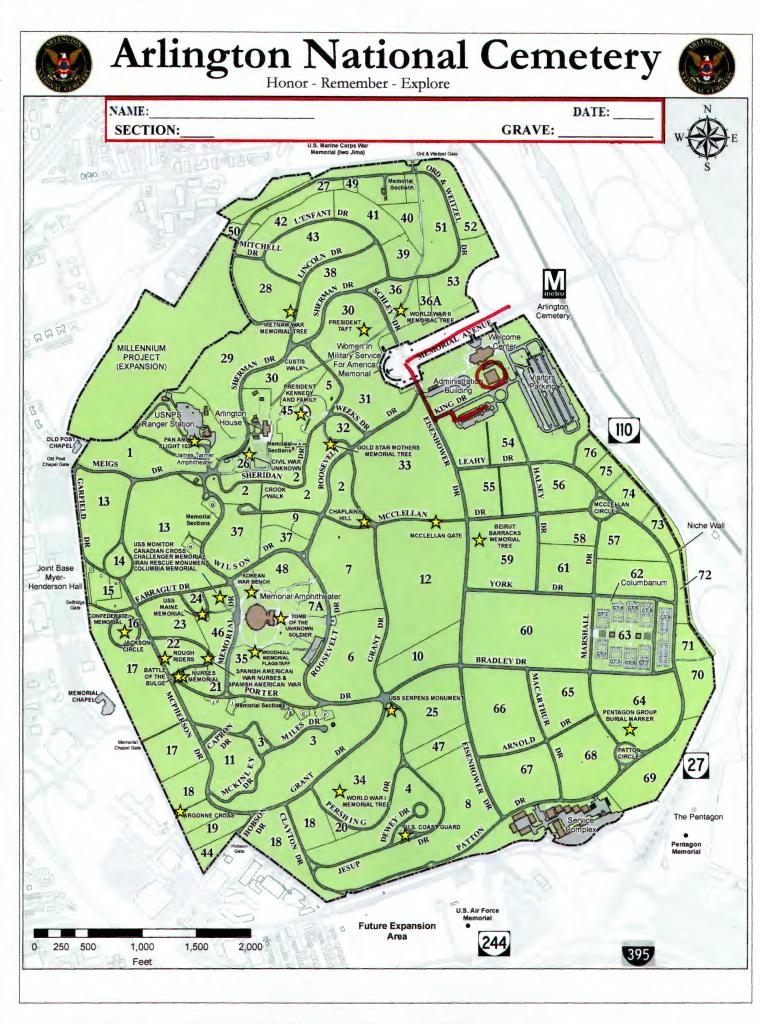 Arlington National Cemetary Map - Aishouzuo with regard to Printable Map Of Arlington National Cemetery