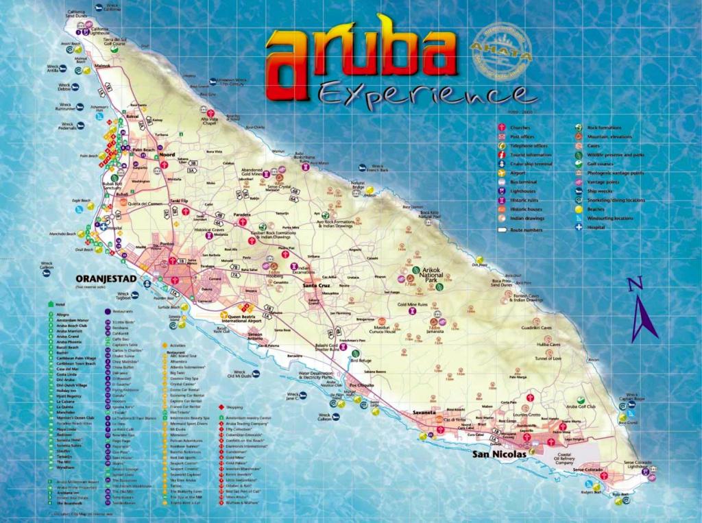 Aruba Maps | Printable Maps Of Aruba For Download for Printable Map Of Aruba