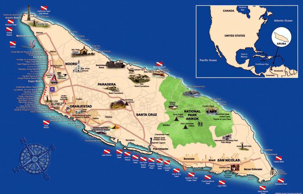 Aruba Maps | Printable Maps Of Aruba For Download intended for Printable Map Of Aruba