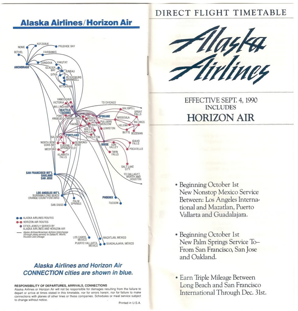 As Route Map 1990 - Flyertalk Forums inside Alaska Airlines Printable Route Map