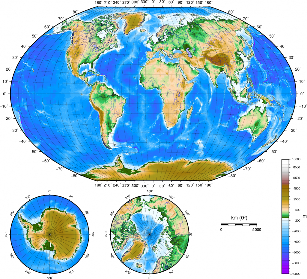 Atlas Of The World/physical And Topographical - Wikimedia Commons pertaining to Topographic World Map Printable