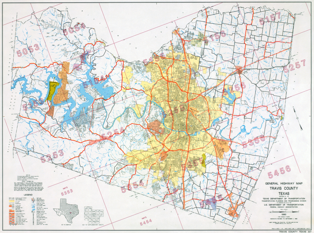 Austin, Texas Maps - Perry-Castañeda Map Collection - Ut Library in Printable Map Of Austin
