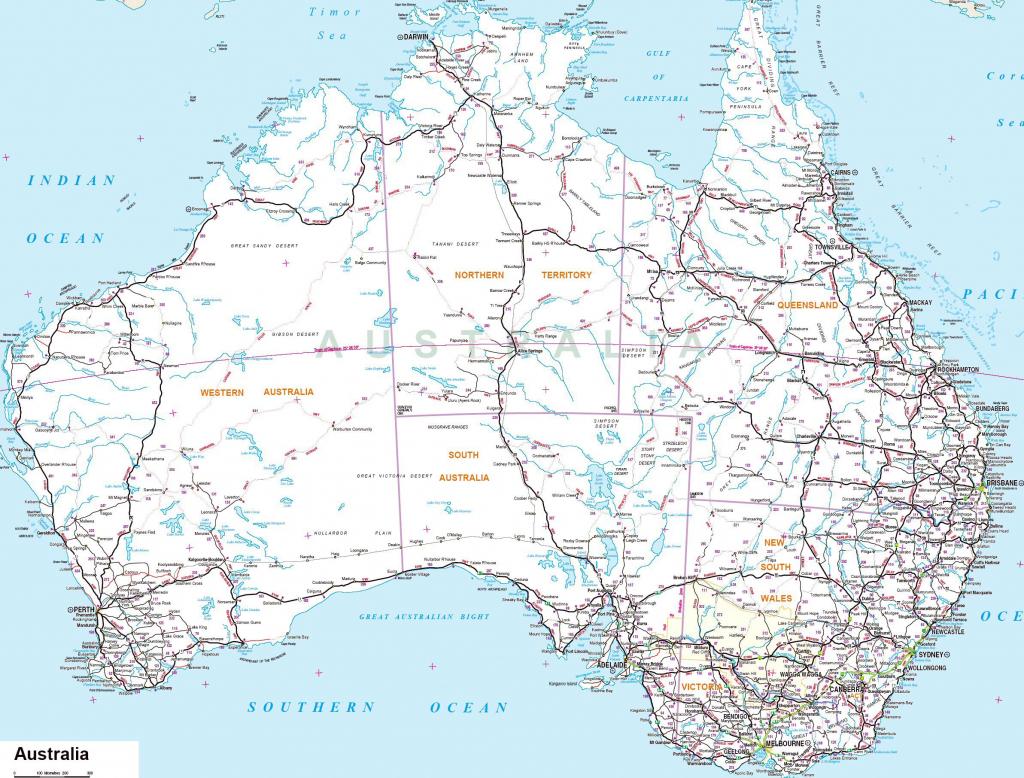 Australia Maps | Printable Maps Of Australia For Download throughout Free Printable Map Of Australia