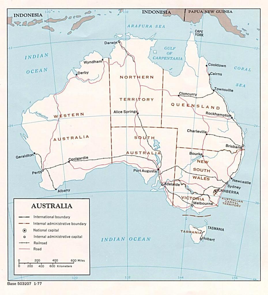 Australia Maps | Printable Maps Of Australia For Download throughout Printable Map Of Australia With States