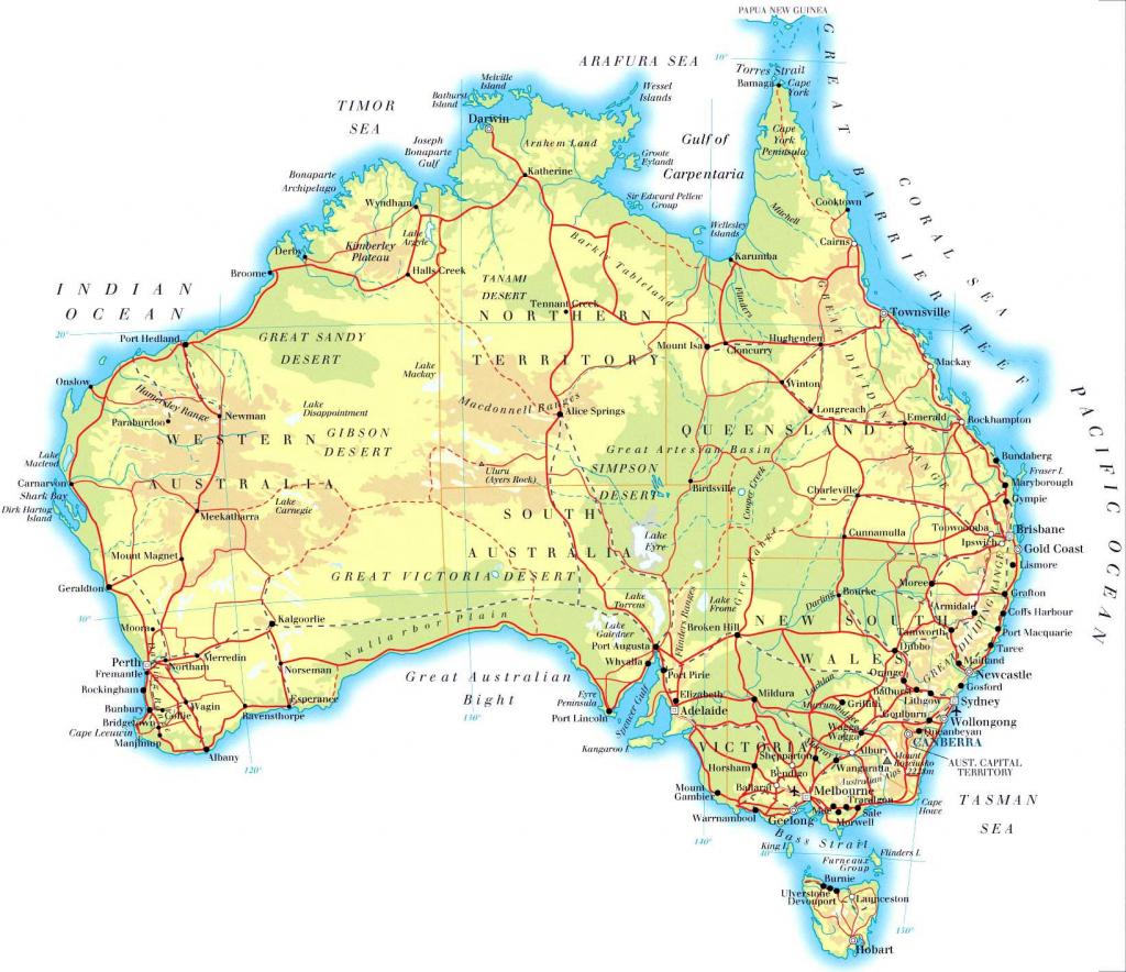 Australia Maps | Printable Maps Of Australia For Download with regard to Free Printable Map Of Australia