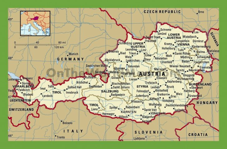 Printable Map Of Austria