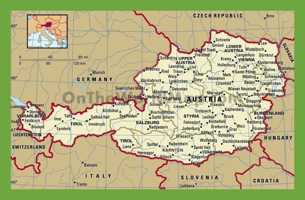 Austria Cities Map And Travel Information | Download Free Austria within Printable Map Of Austria