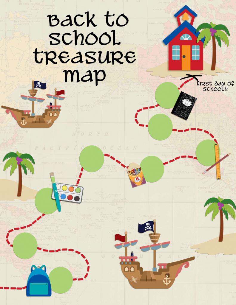 Back To School Treasure Map - Your Everyday Family regarding Children's Treasure Map Printable