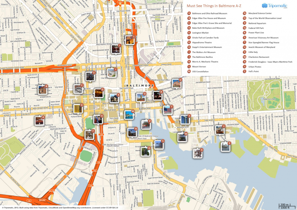 Baltimore Inner Harbor Map Printable   London Attractions In 2019 pertaining to Printable Map Of Baltimore