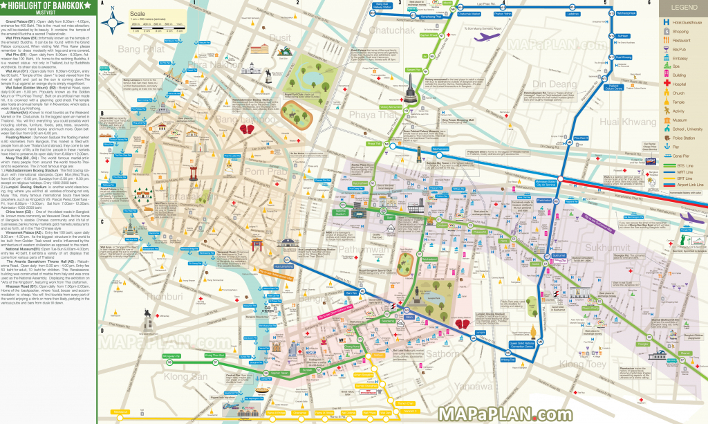 Bangkok Maps - Top Tourist Attractions - Free, Printable City Street Map inside Melbourne Tourist Map Printable