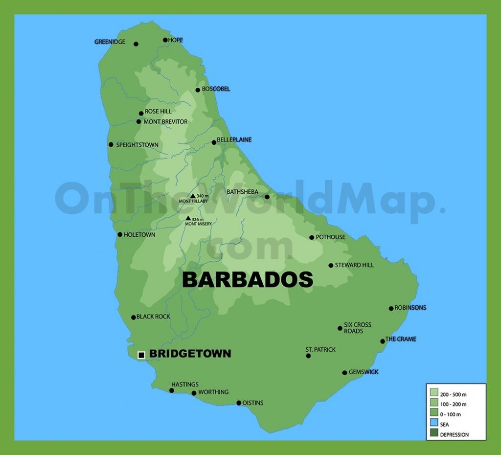 Barbados Maps | Maps Of Barbados for Printable Map Of Barbados