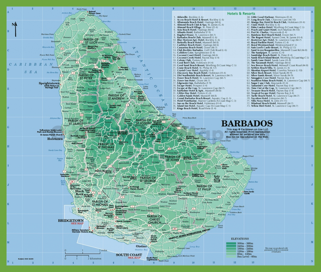 Barbados Maps | Maps Of Barbados throughout Printable Map Of Barbados