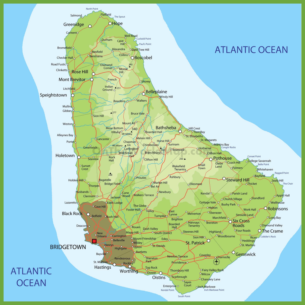 Barbados Maps | Maps Of Barbados with Printable Map Of Barbados