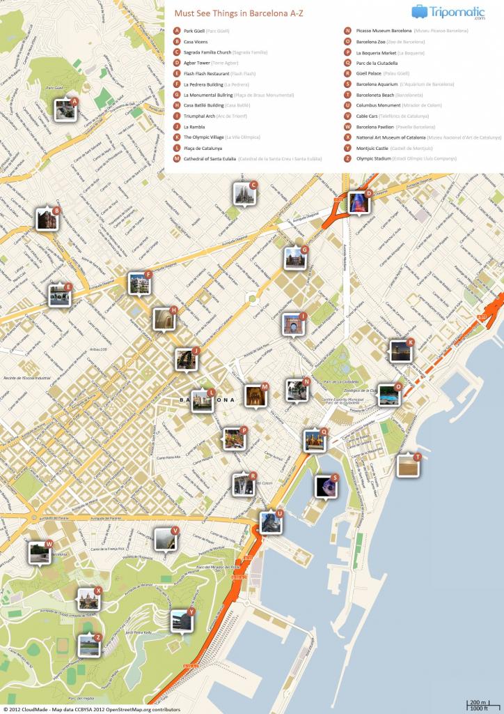 Barcelona Printable Tourist Map In 2019 | Barcelona | Barcelona for Printable Map Of Barcelona