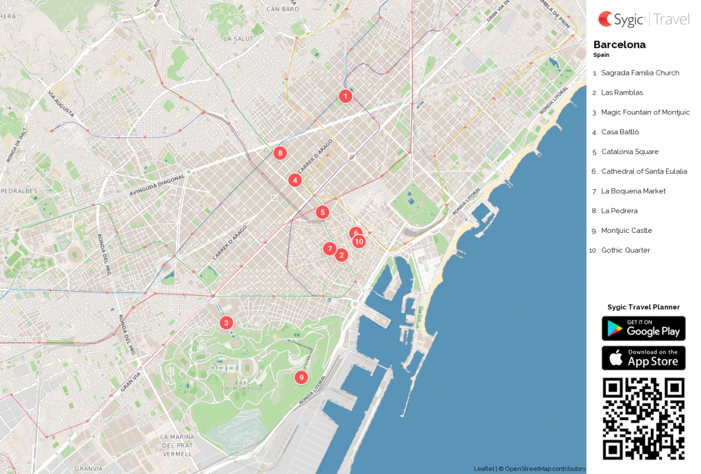 Barcelona Printable Tourist Map In 2019 | Barcelona Travel Tips in Us Quarter Map Printable