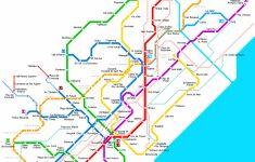 Barcelona Metro Map Printable