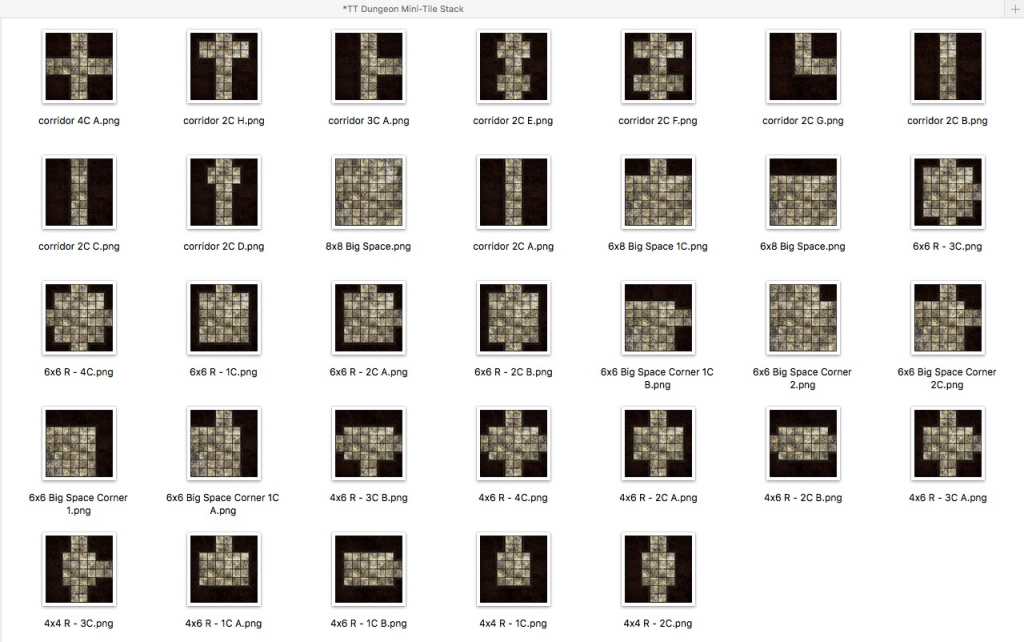 Basic Dungeon Tiles - What's In The Sets? with regard to Printable D&d Map Tiles