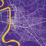 Baton Rouge, Louisiana Map Art   City Prints With Regard To Printable Map Of Baton Rouge