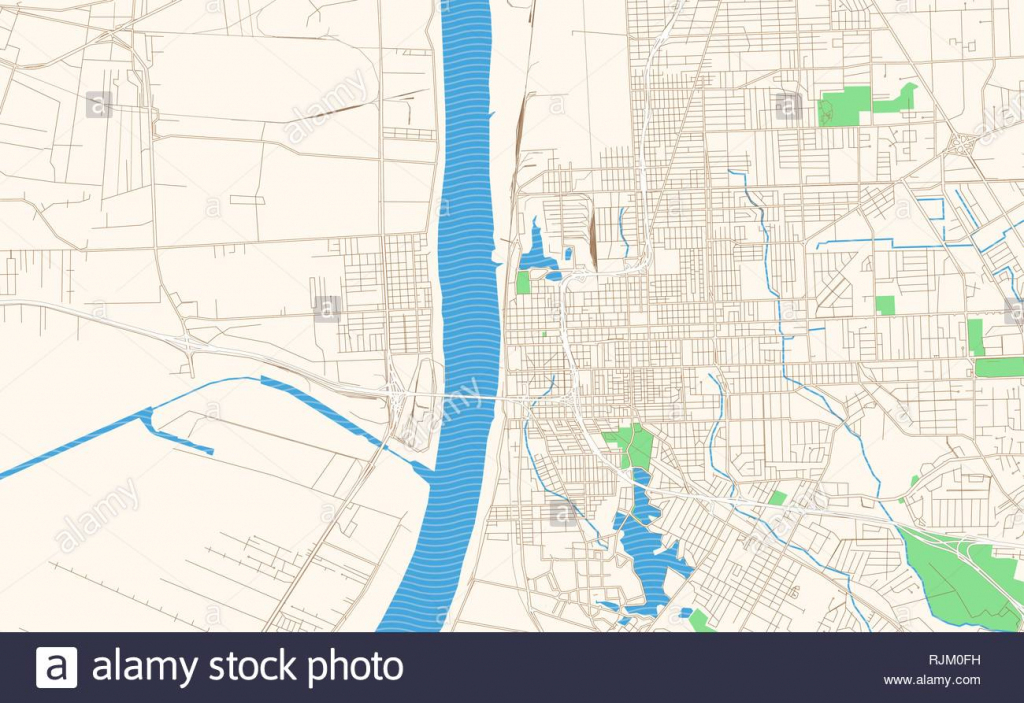 Baton Rouge Louisiana Printable Map Excerpt. This Vector Streetmap throughout Printable Map Of Baton Rouge