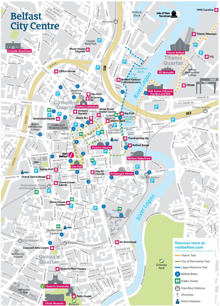 Belfast City Center Map inside Belfast City Map Printable