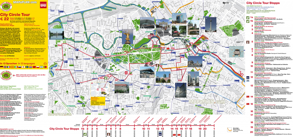 Berlin Maps - Top Tourist Attractions - Free, Printable City Street Map with Berlin Tourist Map Printable