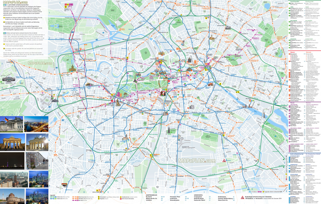 Berlin Maps - Top Tourist Attractions - Free, Printable City Street Map with regard to Printable Map Of Berlin