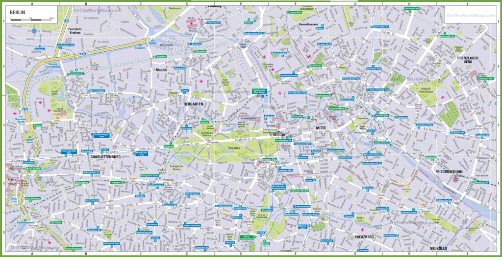 Berlin Tourist Map for Berlin Tourist Map Printable
