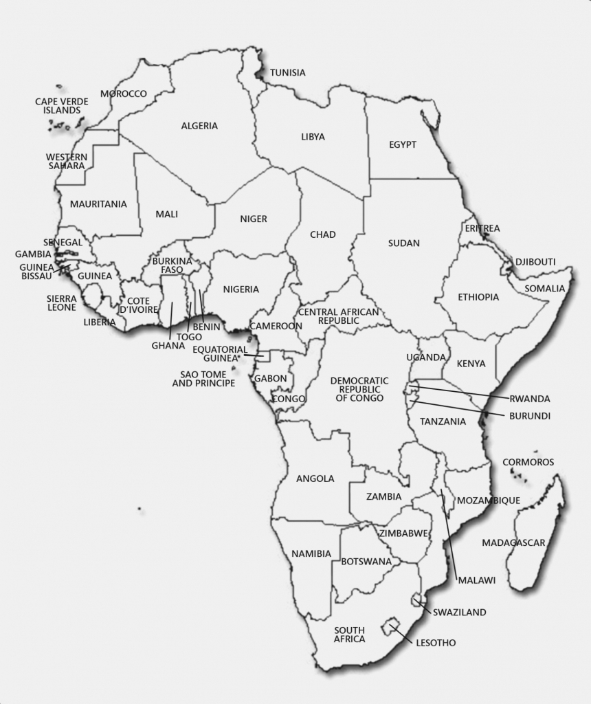 Best Photos Of Printable Labeled Map Of Africa – Printable Blank Map throughout Printable Blank Map Of Africa