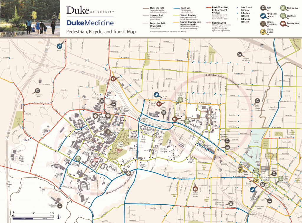 Bicycling | Parking & Transportation | Duke within Duke University Campus Map Printable