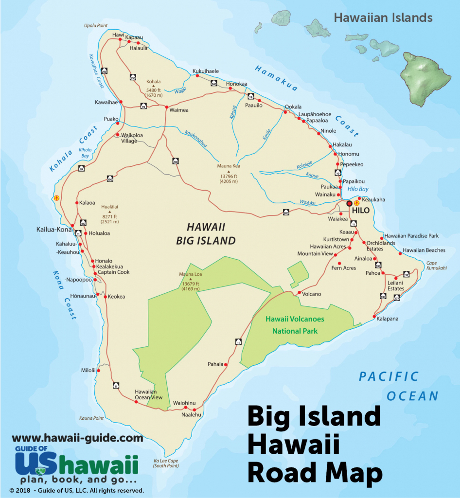 Big Island Of Hawaii Maps - Printable Driving Map Of Kauai in Oahu Map Printable