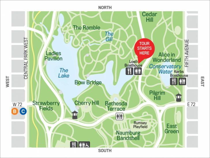 Printable Map Of Central Park