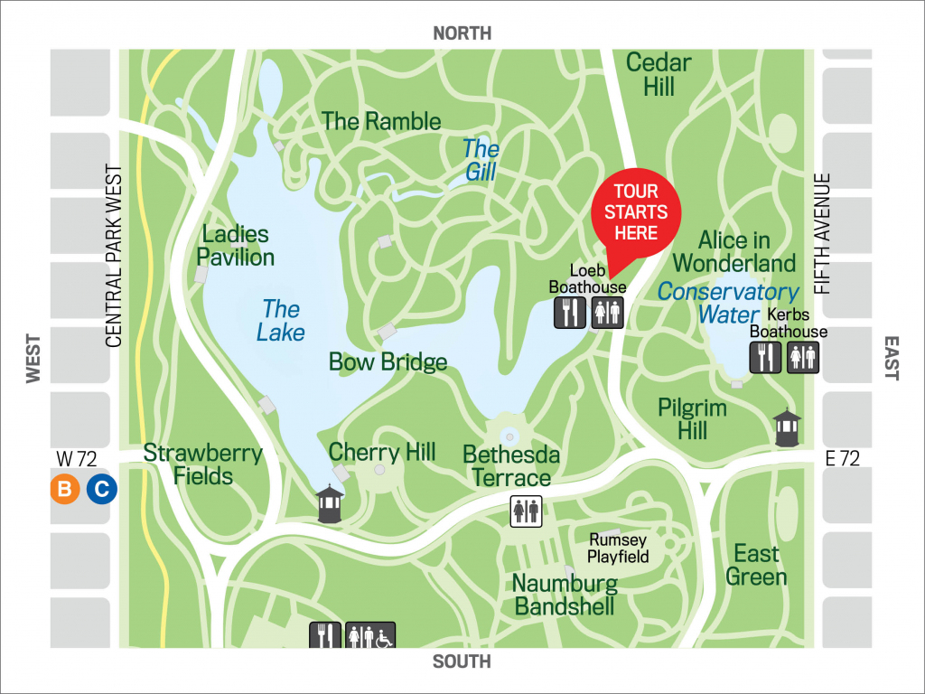 Birding Basics: The Ramble 2019-3-20 - The Official Website Of in Printable Map Of Central Park