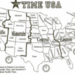 Black And White Us Time Zone Map   Google Search | Social Studies With Printable Time Zone Map For Kids