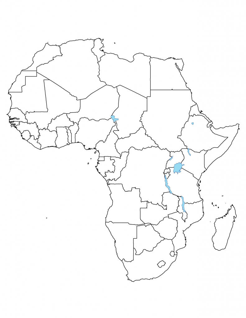 Blank Africa Map Printable | Sitedesignco intended for Africa Outline Map Printable